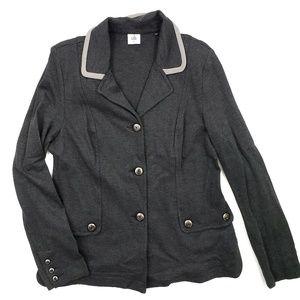 Cabi Blazer Sweater Gray Large Jacket Casual